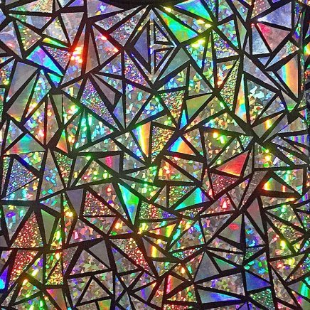 glittering mosaic shards with the appearance of glass