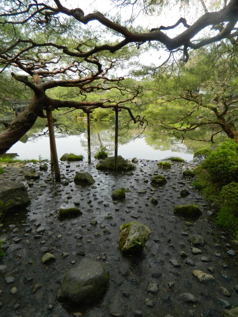 Rock and water garden. Kyoto, Japan. Heian Shrine.